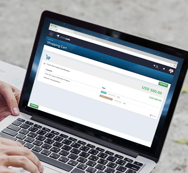 UpsideLMS | LMS Feature | eCommerce Module