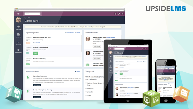 UpsideLMS - Best Value Responsive LMS, Now Available On The Device Of Your Choice!