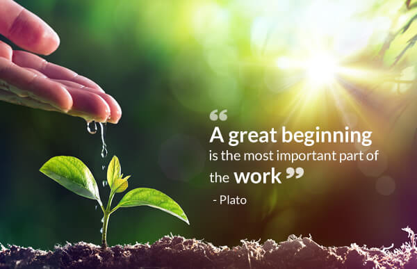 A great beginning is the most important part of the work - Plato