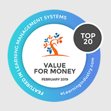 UpsideLMS is eLearning Industry's 'Top Value for Money Learning Management System' for 2019
