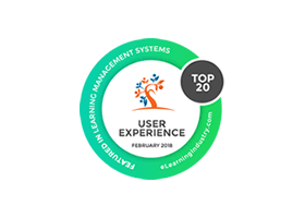 Featured in eLearning Industry's 'The Top 20 LMS' list based on User Experience
