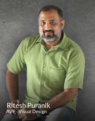 Ritesh Puranik | AVP -Visual Design